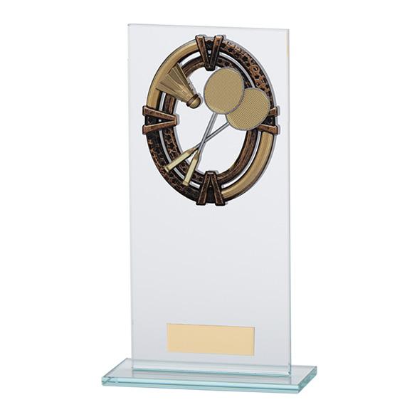 Maverick Legacy Glass Badminton Trophy Bronze - CR16001