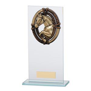 Maverick Legacy Glass Equestrian Trophy Bronze - CR16013