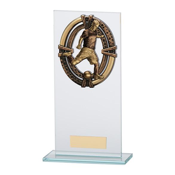 Maverick Legacy Glass Football Player Trophy - CR16009