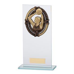 Maverick Legacy Glass Netball Trophy Bronze - CR16017