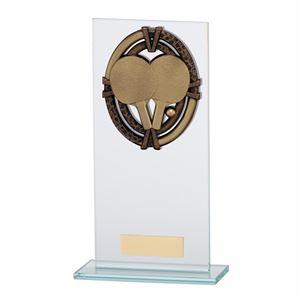 Maverick Legacy Glass Table Tennis Trophy Bronze - CR16020