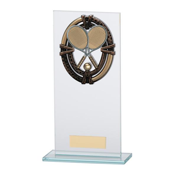 Maverick Legacy Glass Tennis Trophy Bronze - CR16021