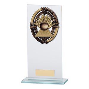 Maverick Legacy Glass Ten Pin Bowling Trophy Bronze - CR16022