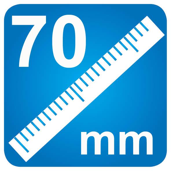 70mm diameter