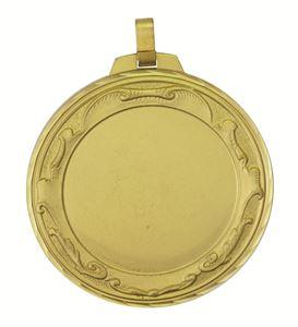 Gold Faceted Royal Medal (size: 70mm) - 6005FL