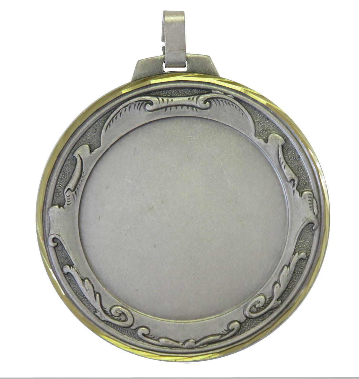 Silver Faceted Royal Medal (size: 70mm) - 6005FL