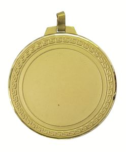 Gold Faceted Hellenic Medal (size: 70mm) - 5485FL
