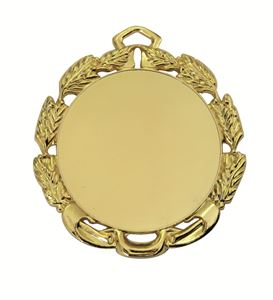 Gold Quality Die-Cast Laurel Wreath Medal (size: 70mm) - 65512EL