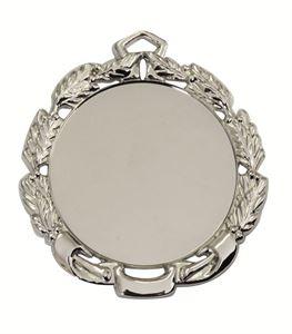 Silver Quality Die-Cast Laurel Wreath Medal (size: 70mm) - 65512EL