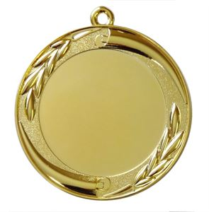 Gold Quality Scroll and Laurel Medal (size: 70mm) - MD35E
