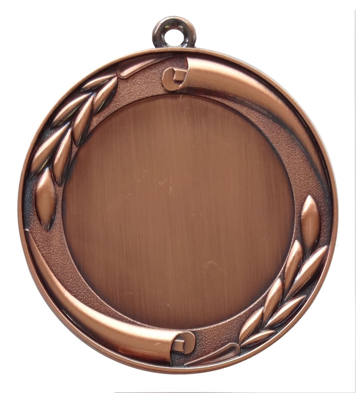 Copper Quality Scroll and Laurel Medal (size: 70mm) - MD35E