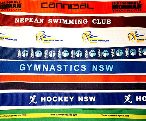 25mm Medal ribbons printed with your logo and text
