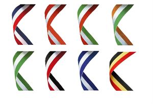 Three Colour Medal Ribbons