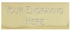 Gold 50 x 16mm Self Adhesive Engraved Text Plate - 50x16ETPG
