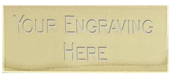 Gold 43 x 19mm Self Adhesive Engraved Text Plate - 43x19ETPG