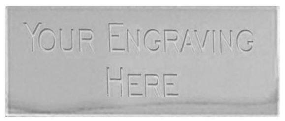 Silver 43 x 19mm Self Adhesive Engraved Text Plate - 43x19ETPS