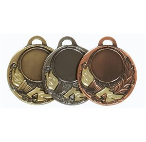 Quality Two Toned Victory Torch Medal - 65506E