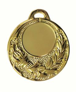 Gold Quality Victory Torch Medal - 65509E