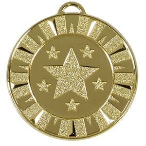 Target Flash Medal - AM941G (size: 40mm) Gold