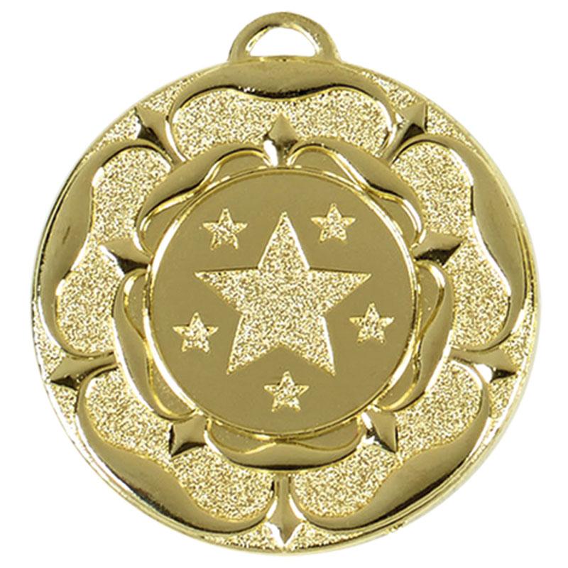 Target Tudor Rose Medal (size: 50mm) - AM935G Gold