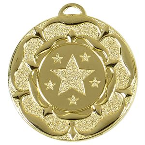 Target Tudor Rose Medal (size: 50mm) - AM935G Gold