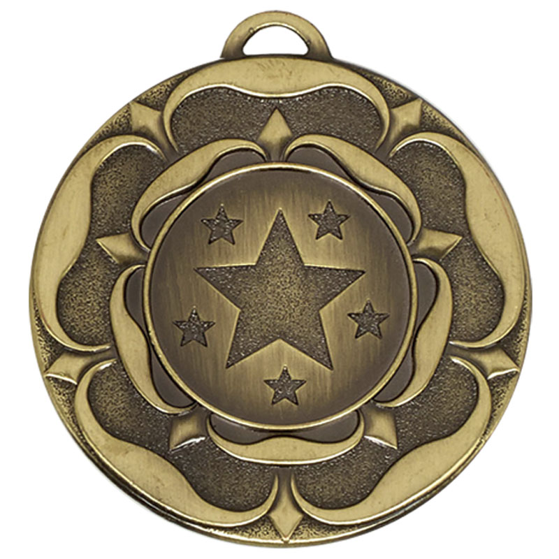 Target Tudor Rose Medal (size: 50mm) - AM935B Bronze