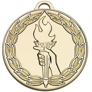 Gold Classic Torch Medal - AM858G