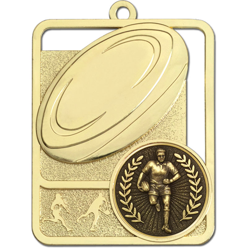 Gold Rugby Ball Medal - AM1301.01