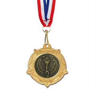 Gold VF Tudor Rose Medal & Ribbon - AM993R.01