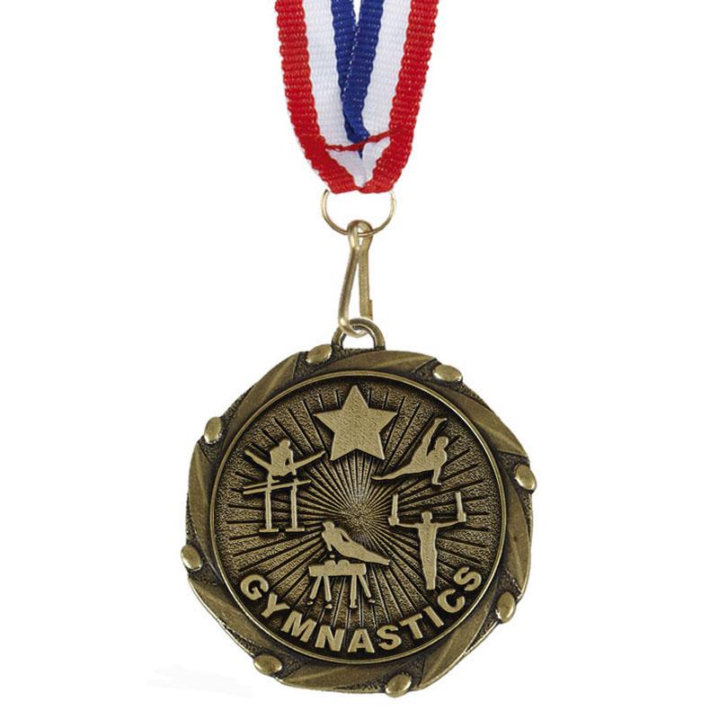 Combo Men's Gymnastics Medal & Ribbon - AM1151.12