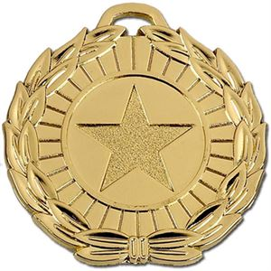 Gold Mega Star Medal (size: 50mm) - AM870G