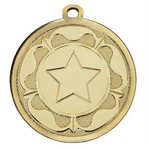 Gold Galaxy Tudor Rose Medal - AM1090.01
