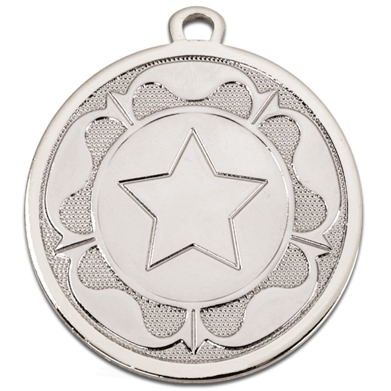 Silver Galaxy Tudor Rose Medal - AM1090.02