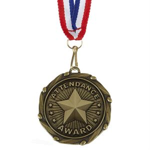 Gold Combo Attendance Award Medal (size: 45mm) - AM1056.12