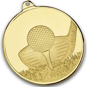 Gold Frosted Glacier Golf Club Medal - AM2005.01