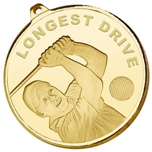 Gold Frosted Glacier Longest Drive Medal - AM2016.01