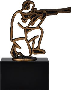 Pewter Silhouette Shooting Trophy - BEL566