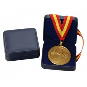 Blue Leatherette Medal Case - BLB50-60