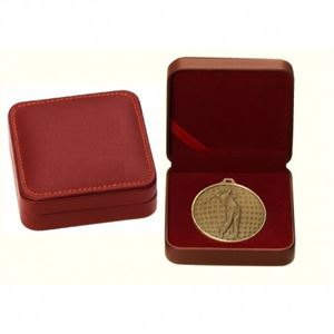 Red Leatherette Medal Case - BLR50-60