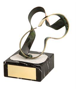Skiing/ Snowboarding Goggles Handmade Metal Trophy - 785