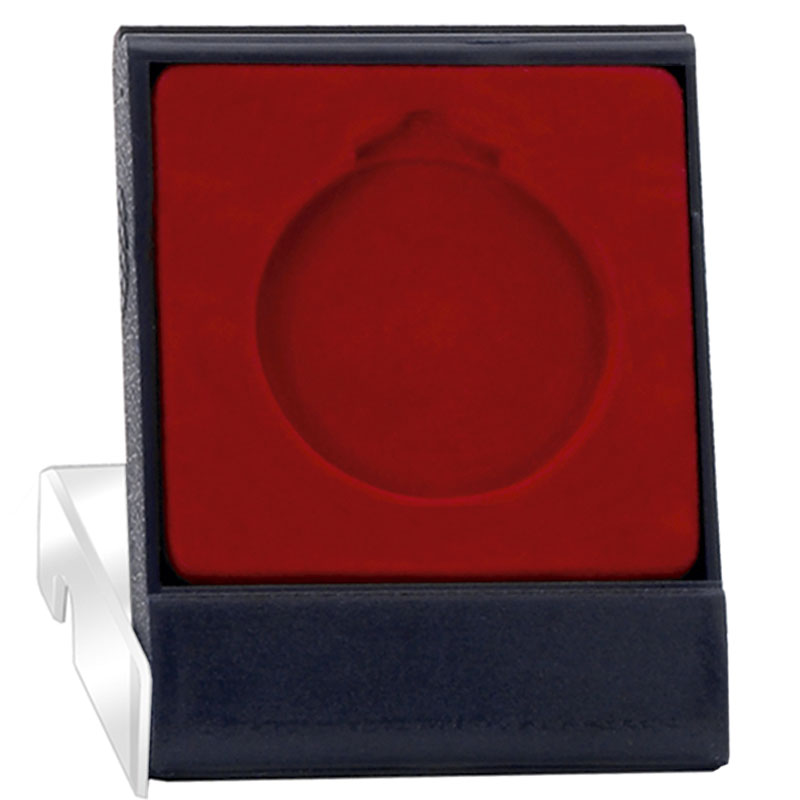 Economy Clear Lid Red Medal Case - AM226
