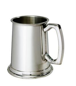 Plain Standard 1 Pint Pewter Tankard - A299