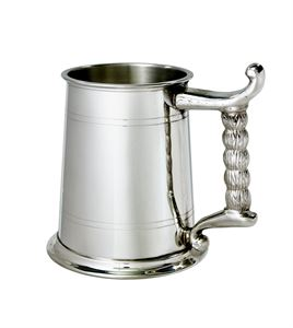 Rope Handle 1 Pint Pewter Tankard - A238T