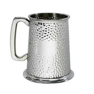 Hammered 1 Pint Pewter Tankard - A999H