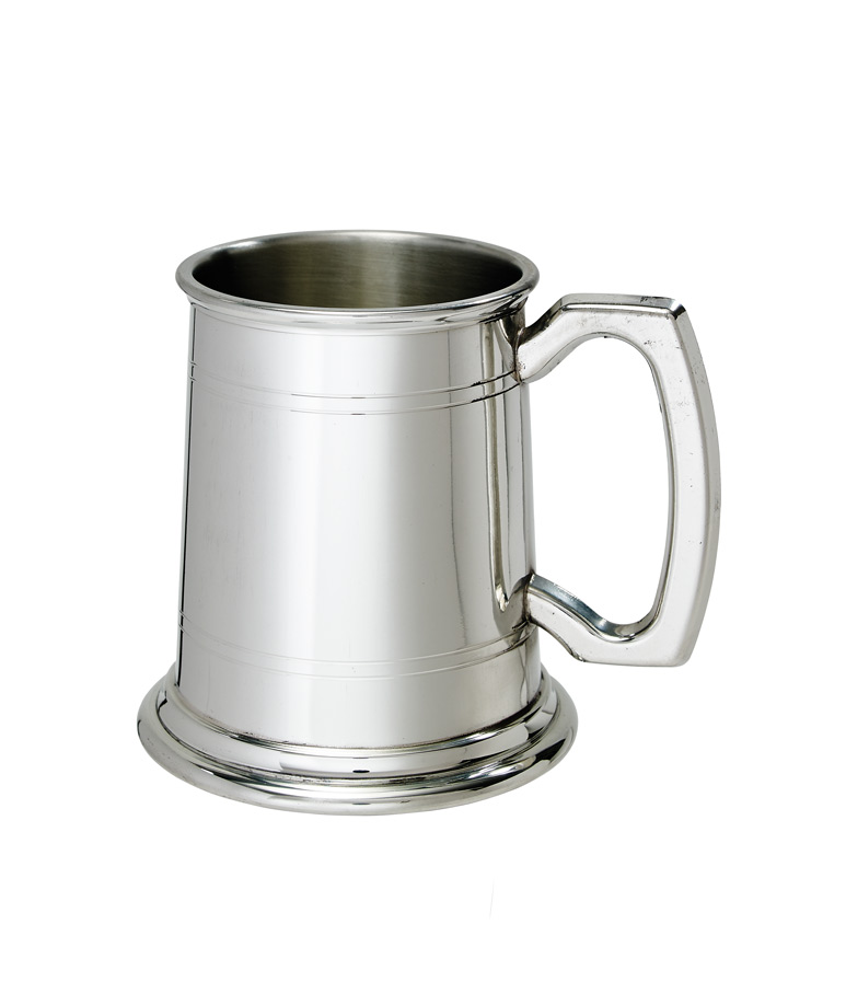 Half Pint Standard Double Lined Pewter Tankard - C238