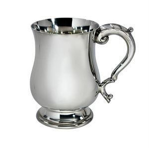 Half Pint Georgian Pewter Tankard - C406