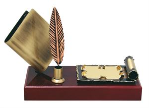 Quill and Scroll Handmade Metal Trophy - 285