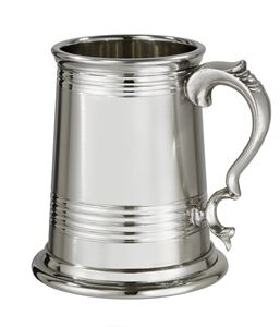 X Range 1 Pint Worcester Part Satin Pewter Tankard - 142X-PS