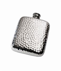 4oz Hammered Pewter Pocket Flask - 844H