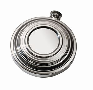Clay Shot Round Pewter Flask - CLF